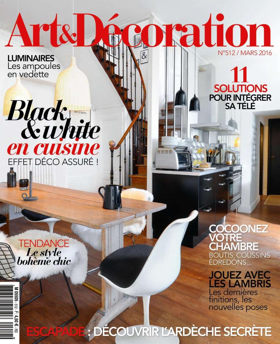 art et d coration n 512 mars 2016 telecharger magazine. Black Bedroom Furniture Sets. Home Design Ideas