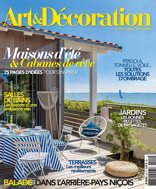 Art et d coration n 515 juillet aout 2016 telecharger for Art et decoration avril 2016