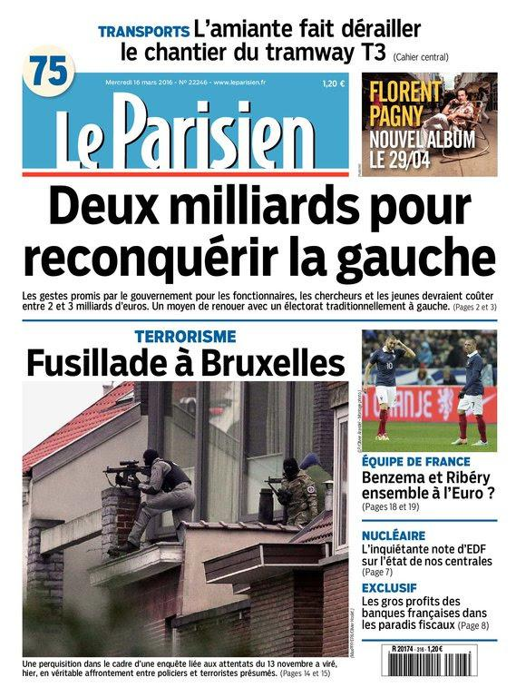 Le Parisien   Journal de Paris du Mercredi 16 Mars 2016