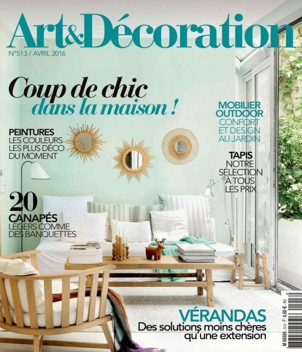 art et d coration n 513 avril 2016 telecharger t l charger des magazines. Black Bedroom Furniture Sets. Home Design Ideas
