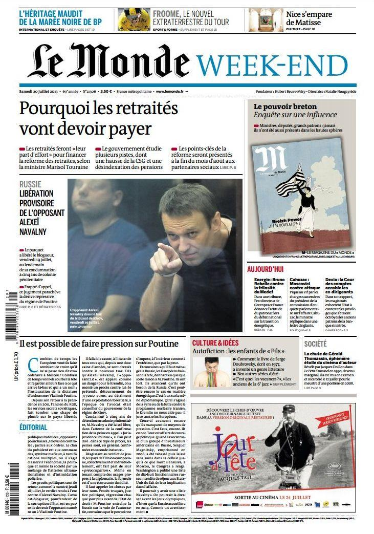 Le Monde et Supplements Week-end du Samedi 20 Juillet 2013 [MULTI]