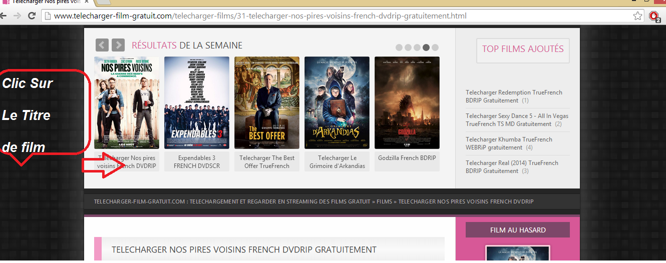 Comment telecharger un film gratuit