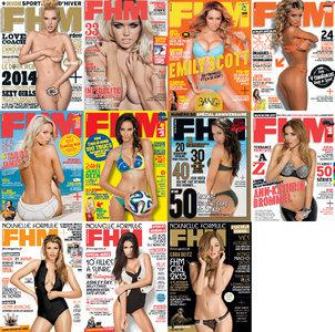 FHM France Magazine - 2014 Full Year Issues Collection
