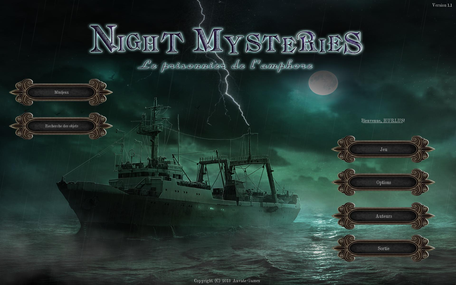 Night Mysteries: Le Prisonnier de l'Amphore [PC] [MULTI]