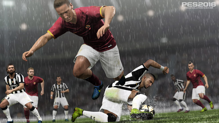 Test PES 2016 Konami juventus as roma