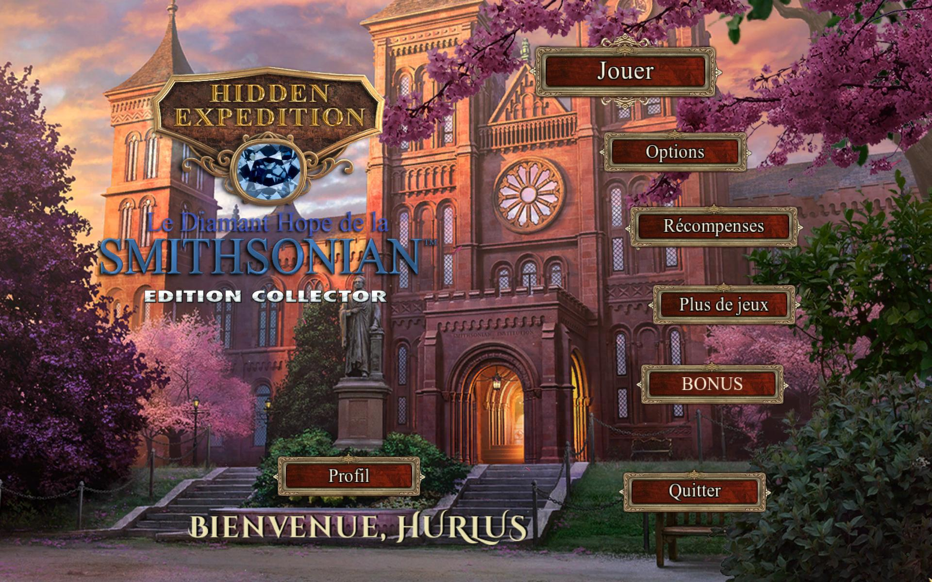 Hidden Expedition: Le Diamant Hope de la Smithsonian Edition Collector