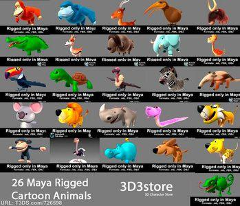 3D3store - 26 Animals Collection