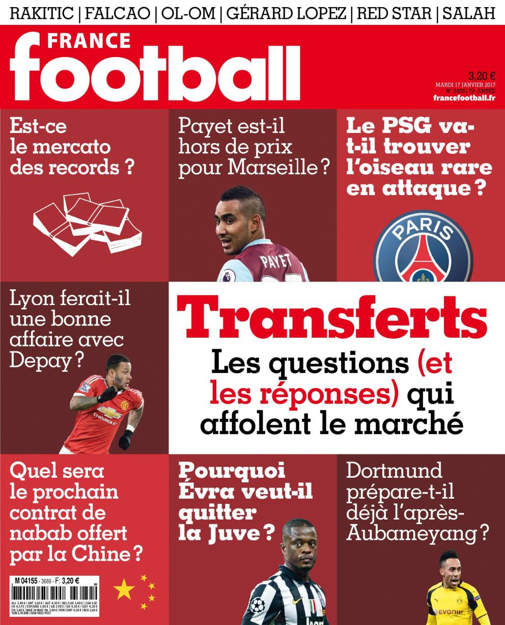 France Football N°3689 - 17 Janvier 2017