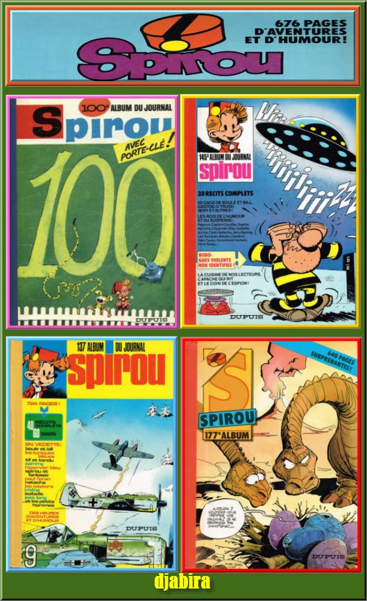 TITANPACK 2 Le journal de Spirou (1966 à 1985) de l'album 100 à 172 sur Bookys