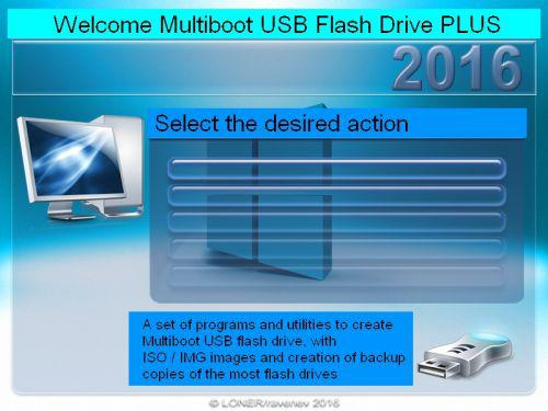 Multiboot USB Flash Drive PLUS 20.09.2016 (x86/x64) Portable