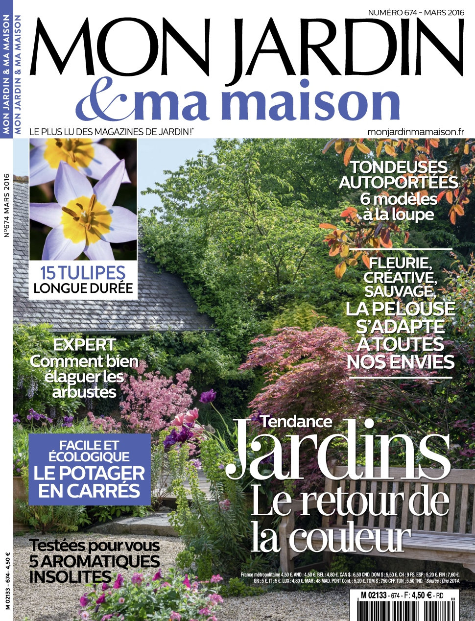 magazine mon jardin ma maison n 674 mars 2016. Black Bedroom Furniture Sets. Home Design Ideas