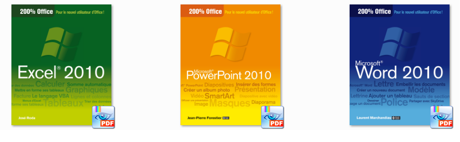 Micro Application - livres office 2010 Word Powerpoint et Excel