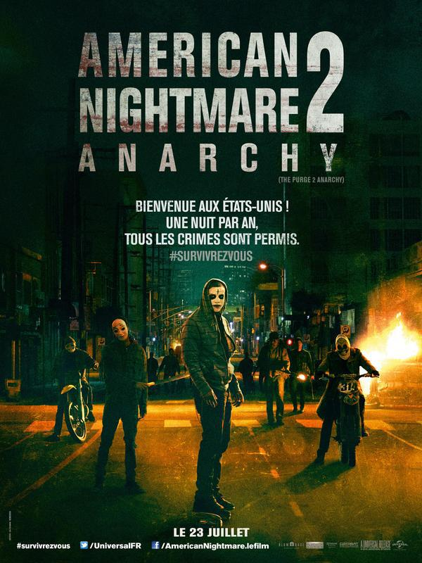 Telecharger American Nightmare 2 : Anarchy  FRENCH BDRIP Gratuitement