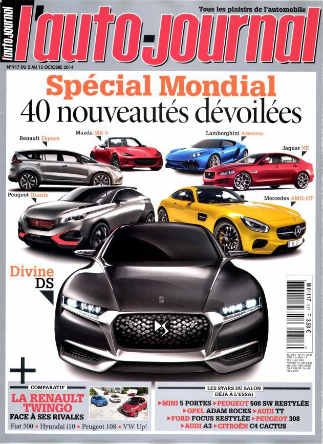 l'Auto Journal No.917 Du 2 au 15 Octobre 2014