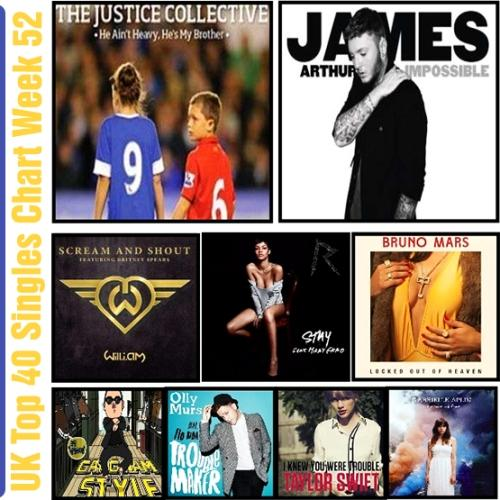 UK Top 40 Singles Chart Week 52 (2012) [Multi]