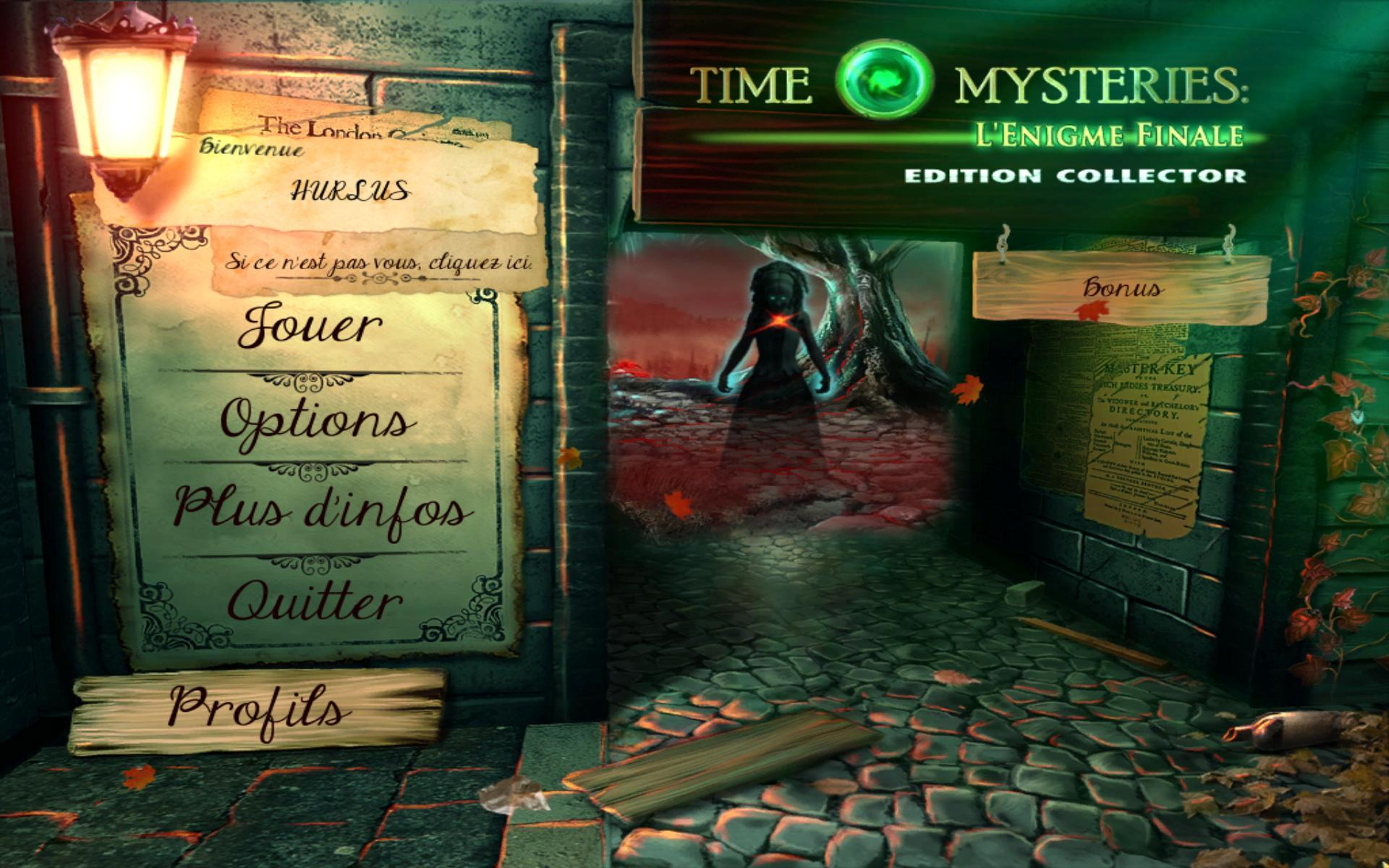Time Mysteries: l'Enigme Final Edition Collector