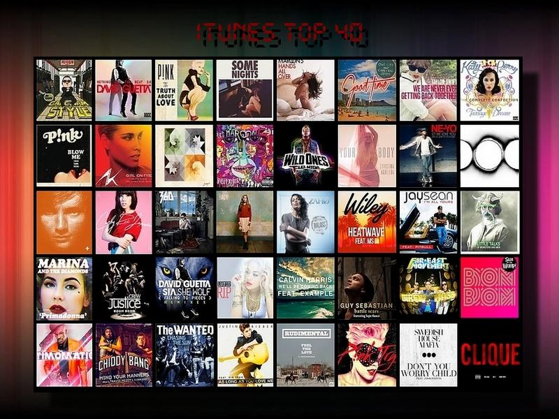 iTunes top 40 ( Septembre 2012 )