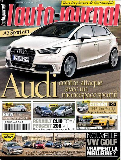 L'Auto Journal N°868 - 15 au 28 Novembre 2012 [Multi]